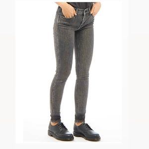 Levi's Line 8 - Grey Mid Rise Skinny Jeans- 27